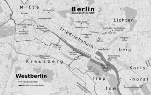 Map of Berlin showing scenes from Spectre At The Feast