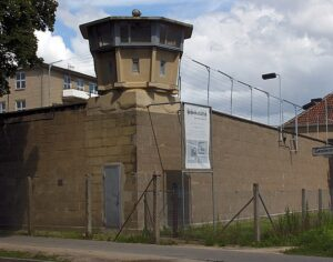 Watchtower on the wall surrounding the Stasi remand prison